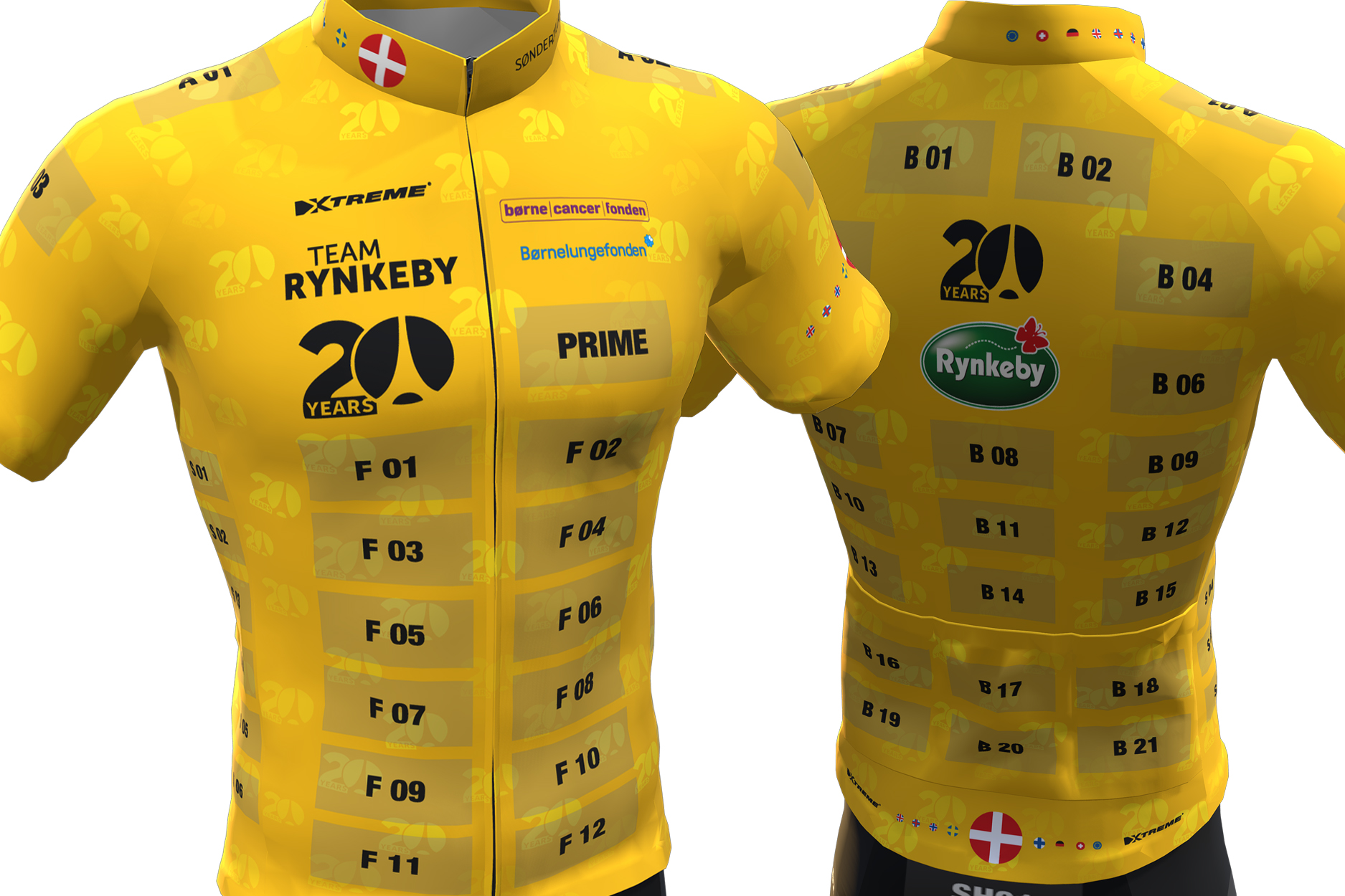 Team Rynkeby celebrates its history with anniversary clothing